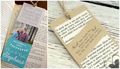 wedding favors bookmarks d i y bookmark wedding favors the thinking closet
