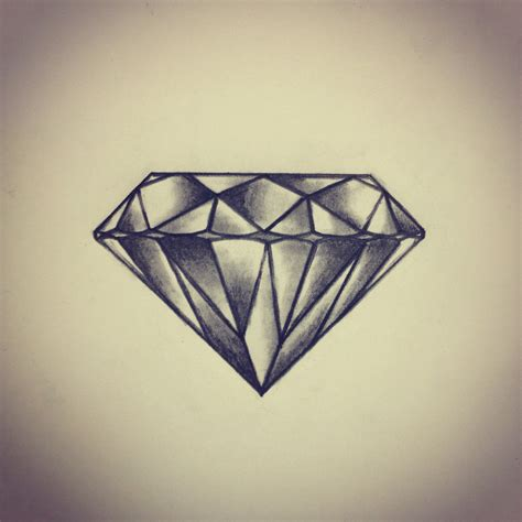 Tattoo Diamond Drawing | diamond tattoo sketch drawing by ranz i think i d
