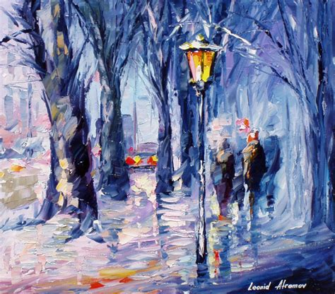 famous wall paintings leonid afremov famous paintings of winter violet wall art