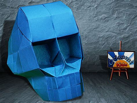 Origami Skull 3d - 39 best images about origami by origami kids on