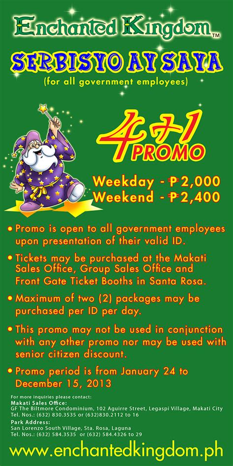 enchanted kingdom schedule 2016 enchanted kingdom tickets group package 2016