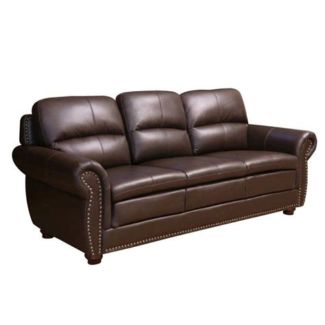 brown leather sofa sets abbyson living gailmarie 3 leather sofa set in brown