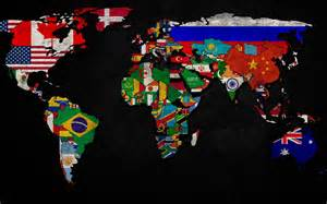 World Map Flags by World Flag Map Wallpapers
