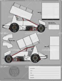 blank race car templates sprint car template srgfx