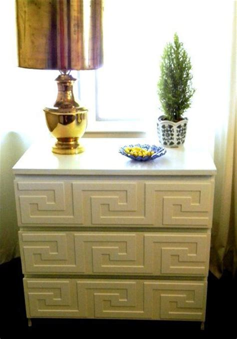 overlays for ikea furniture greek key drawers and overlays on pinterest