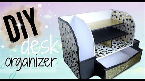 How To Make Desk Organizers by Diy Cardboard Desk Organizer Affordable