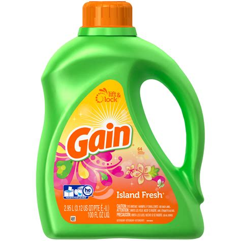 gain fresh gain liquid detergent island fresh 100 fl oz