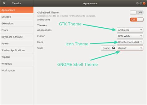changing themes ubuntu how to install themes in ubuntu 18 04 and 17 10