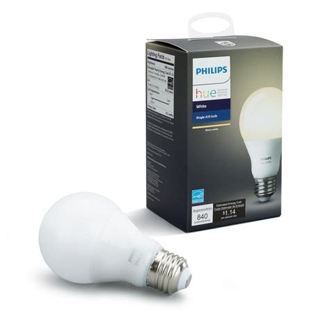 philips hue smart light bulbs philips hue white a19 60w equivalent dimmable led smart
