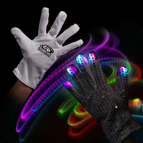 light up rock l promotional light up glow left hand rock star glove