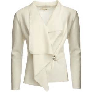 Draped Shirts Groa Women S Boiled Wool Jacket Winter White Free Uk