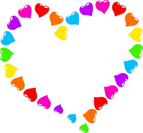 clipart cuore arcobaleno cuore clipart immagine gratis domain