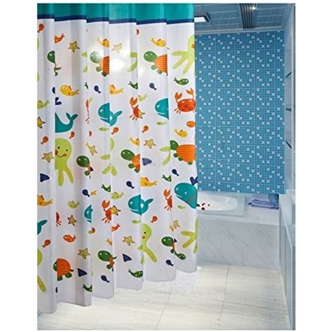 Kid Bathroom Shower Curtains Shower Curtain Sets Curtains For Bathroom Accessories Pictures Of Fish Ebay