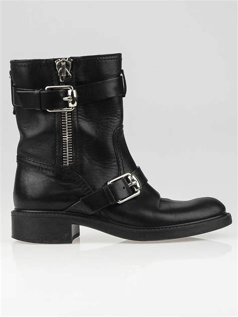 Flatshoes Gucci Import 35 gucci black leather edie flat ankle boots size 4 5 35 yoogi s closet