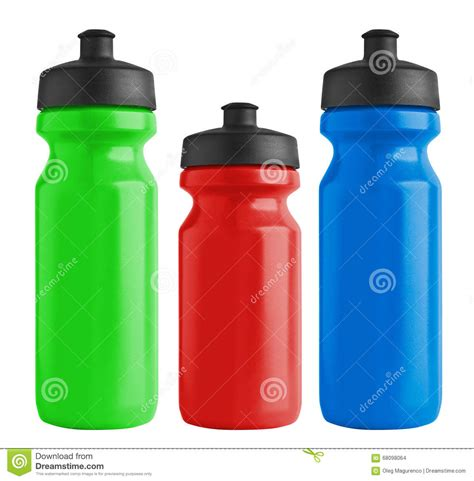 bottiglie plastica per alimenti insieme delle bottiglie di plastica della bicicletta in