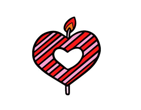 candela a cuore disegno candela cuore colorato da utente non registrato il