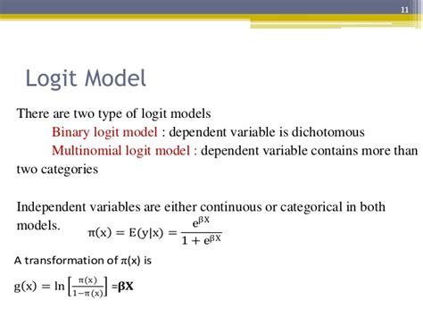 Modèle Logit probit and logit model