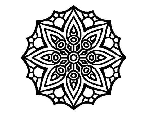 imagenes de mandalas simples para colorear dibujo de mandala simetr 237 a sencilla para colorear