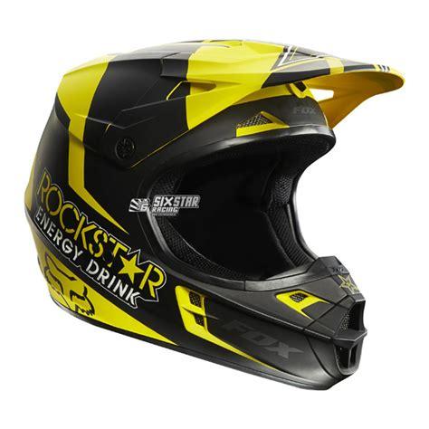 motocross helmet rockstar fox racing v1 rockstar jaune noir moto casque motocross