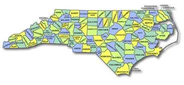 maps carolina county map