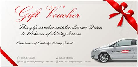 printable driving lesson voucher template driving lesson voucher images
