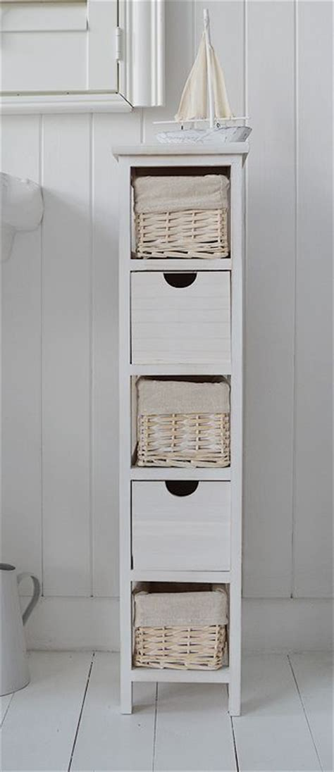 narrow cabinet bathroom tall narrow 20 cm bathroom freestanding cabinet with baskets and drawers