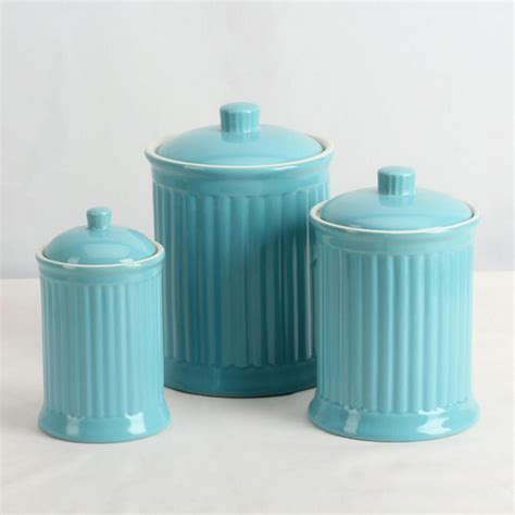 turquoise kitchen canisters omniware a set of airtight canisters 24 oz 44 oz 88 oz