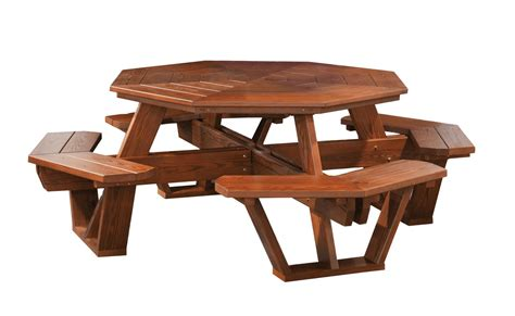 cedar wood octagon picnic table  dutchcrafters amish