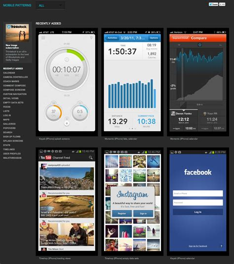 app design ideas collection of mobile design patterns for app ideas psd