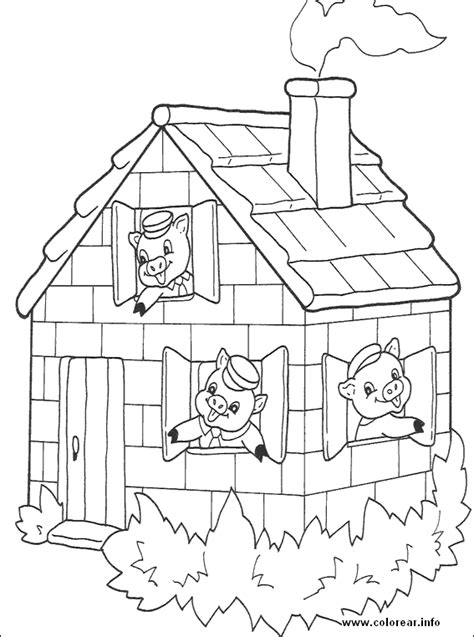 three little pigs 15 three little pigs printable coloring