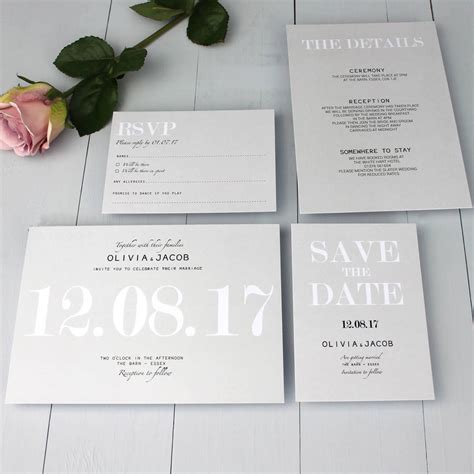 Modern Wedding Invitations by Modern Traditional Wedding Invitation By Beija Flor Studio