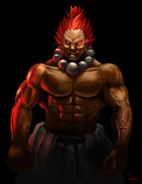 Fighter Akuma Black rank the top 10 strongest fighter characters bodybuilding forums