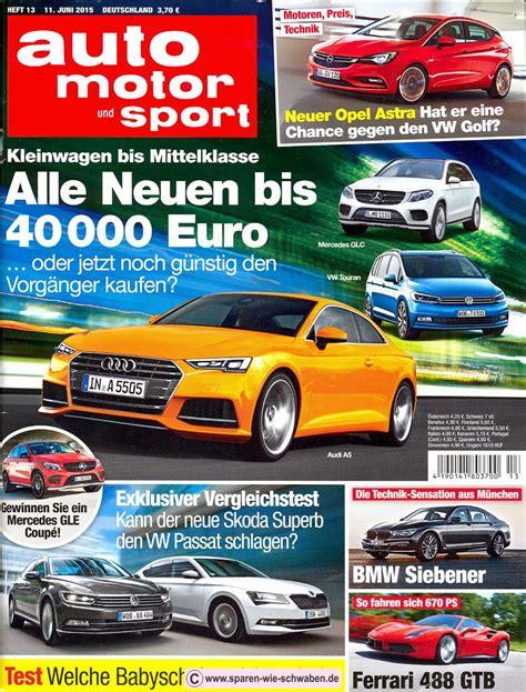 Abo Auto Motor Sport by Abo Pr 228 Mie Testbericht Zeitschrift Abo Auto Motor Und