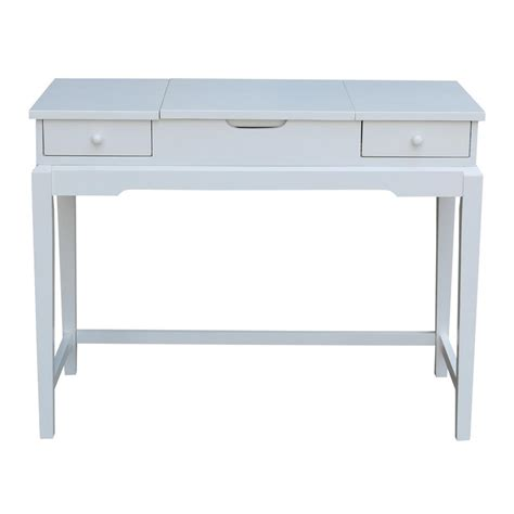 Unfinished Vanity Table International Concepts Unfinished 40 In W Vanity Table Dt 2 The Home Depot