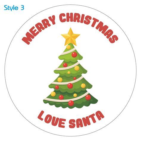 Label Sticker Merry personalised custom tree sticker label merry santa