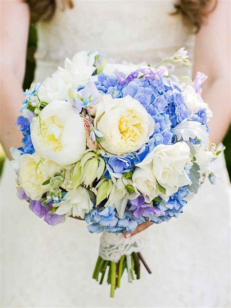 Blue Flower Wedding Bouquet by The Best Blue Wedding Flowers And 16 Gorgeous Blue Bouquets