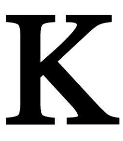 C N K Black opentip wrought iron let k letter k large