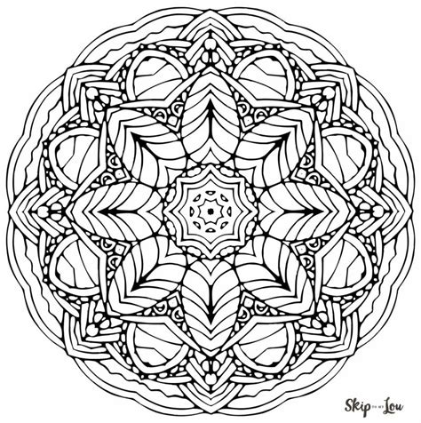 mandala coloring book benefits color your stress away with mandala coloring pages skip