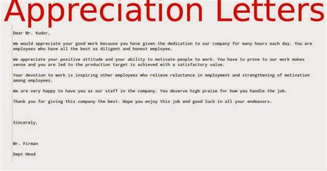 appreciation letter for giving business appreciation letters to employees sles business letters