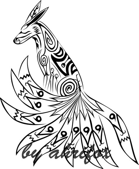 kurama tattoo tribal kurama by ahrifox on deviantart