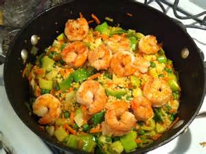 healthy weekday dinner skillet shrimp and couscous the