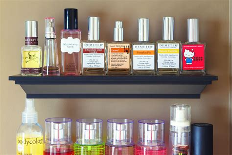 organizing bathroom shelves bathroom shelves organizing perfumes and lotions 4 kevin