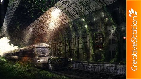 aquin station speed art photoshop cs
