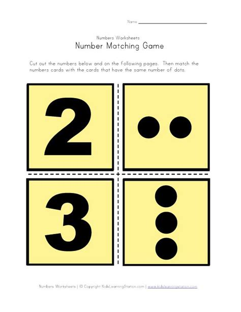 printable numbers matching game 20 learning tools to teach your children number