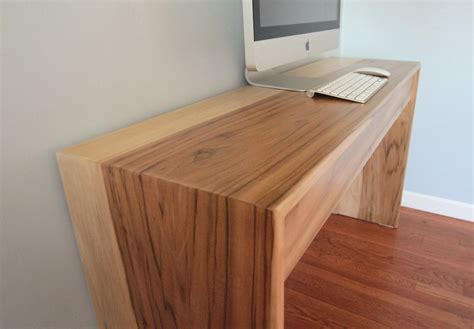 Modern Wood Computer Desk Parsons Style Minimalist Wood Computer Desk By Monkandhoney
