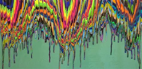 acrylic painting in layers shrill colors and mixed layers a word with gracey