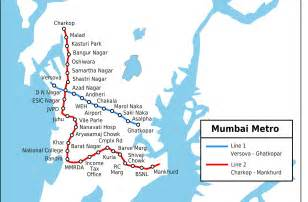 Mumbai Metro Map mumbai metro map