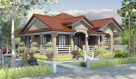 bungalow house design home design one story house plan home design bungalow house plans philippines mediterranean