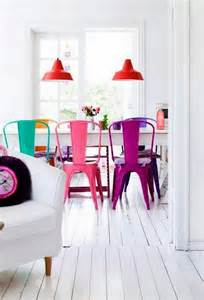 colorful dining chairs modern mix up design