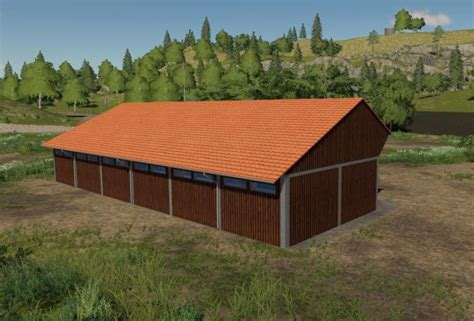 fs placeable wood shed  simulator games mods